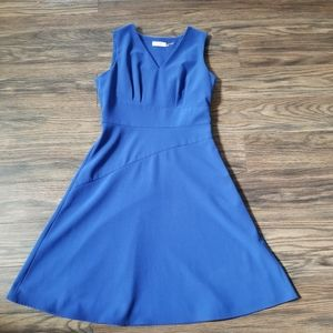 Calvin Klein Fit and Flare blue dress.Size 6